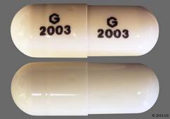 White Capsule G 2003 G 2003 - Ziprasidone Hydrochloride 60mg Capsule