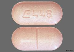 Pink Oblong Tablet E448 - Metaxalone 800mg Tablet