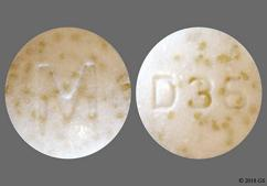 White Round Tablet D36 And M - Doxycycline Hyclate 50mg Delayed-Release Tablet