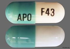Green And White Capsule Apo F43 - Fenofibrate (Micronized) 43mg Capsule