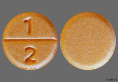 Orange Round 1 2 - Clonazepam 0.5mg Tablet
