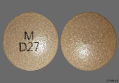 Gray Round Tablet M D27 - Methylphenidate Hydrochloride 27mg Extended-Release Tablet