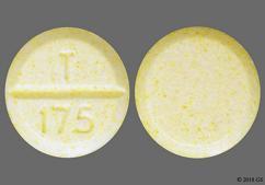 Yellow Round Tablet T 175 - Methylphenidate Hydrochloride 20mg Tablet