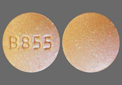 Red Round Tablet B855 - Repaglinide 2mg Tablet
