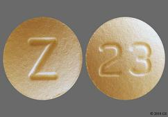 Peach Round Z And 23 - Darifenacin Hydrobromide 15mg Extended-Release Tablet