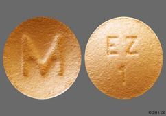 Beige Round Tablet Ez 1 And M - Eszopiclone 1mg Tablet