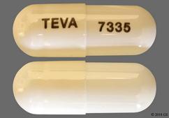White Capsule Teva 7335 - Topiramate Sprinkle 15mg Capsule