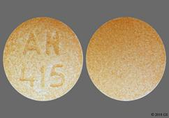Orange Round Sublingual An 415 - Buprenorphine Hydrochloride/Naloxone Hydrochloride Dihydrate 8mg-2mg Sublingual Tablet