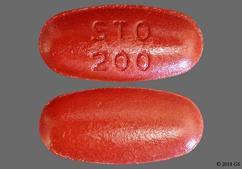 Red-Brown Oval Sto 200 - Carbidopa/Levodopa/Entacapone 50mg-200mg-200mg Tablet