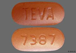 Pink Oval Tablet Teva And 7387 - Moxifloxacin Hydrochloride 400mg Tablet