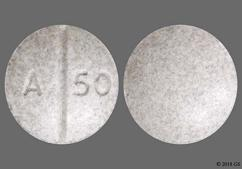 Gray Round Tablet A 50 - Oxycodone Hydrochloride 20mg Tablet