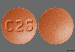 Red Round Tablet C 26 - Donepezil Hydrochloride 23mg Tablet