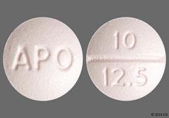 Pink Round Tablet 10 12.5 And Apo - Benazepril Hydrochloride/Hydrochlorothiazide 10mg-12.5mg Tablet