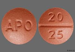 Red-Brown Round Tablet 20 25 And Apo - Benazepril Hydrochloride/Hydrochlorothiazide 20mg-25mg Tablet