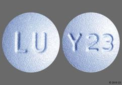 Blue Round Tablet Y23 And Lu - Eszopiclone 3mg Tablet