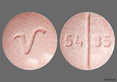 Pink Round Tablet 54 85 And V - Propranolol Hydrochloride 60mg Tablet