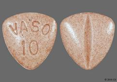Rust Triangle Tablet Vaso 10 - Vasotec 10mg Tablet
