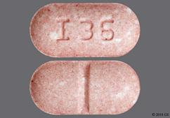 Pink Oblong Tablet I 36 - Glyburide 2.5mg Tablet