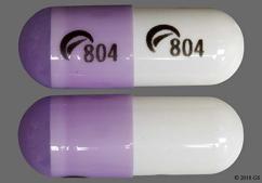 Purple And White Capsule Logo 804 Logo 804 - Dexmethylphenidate Hydrochloride 5mg Extended-Release Capsule