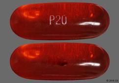 Red-Orange P20 - Docusate Sodium 100mg Capsule