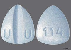 Blue Triangle Tablet 114 And U U - Lamotrigine 200mg Tablet