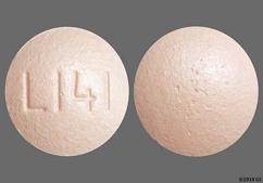 Pink Round Tablet L141 - Health Mart Famotidine 10mg Tablet