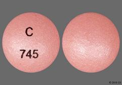 Pink Round Tablet C 745 - Glipizide 5mg Extended-Release Tablet