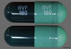 Green Capsule Bvf 180 Bvf 180 - Diltiazem Hydrochloride 180mg Extended-Release Capsule