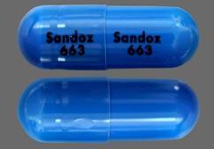 Blue Capsule Sandoz 663 Sandoz 663 - Cefdinir 300mg Capsule