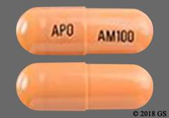 Orange Capsule Apo Am100 - Atomoxetine 100mg Capsule