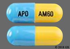 Blue And Yellow Capsule Apo Am60 - Atomoxetine 60mg Capsule