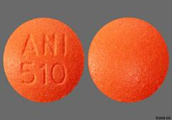Orange Round Tablet Ani 510 - Indapamide 1.25mg Tablet
