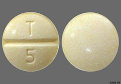 Yellow Round Tablet T 5 - Enalapril Maleate 5mg Tablet