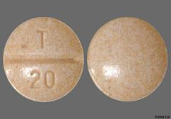 Peach Round Tablet T 20 - Enalapril Maleate 20mg Tablet