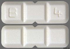 White Rectangular Tablet B 4 - Buspirone Hydrochloride 15mg Tablet