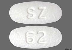 White Oval Tablet Sz And 62 - Carvedilol 6.25mg Tablet