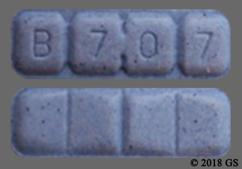 Blue Rectangular Tablet B 7 0 7 - Alprazolam 2mg Tablet