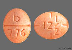 Peach Oval Tablet 12 1/2 And B 776 - Amphetamine/Dextroamphetamine Salts 12.5mg Tablet