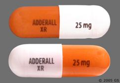 Orange And White Capsule Adderall Xr 25 Mg - Adderall XR 25mg Extended-Release Capsule