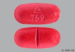 Red Oblong Tablet Logo 759 - Benazepril Hydrochloride/Hydrochlorothiazide 20mg-25mg Tablet