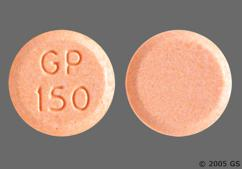 Peach Round Tablet Gp 150 - Lisinopril 30mg Tablet