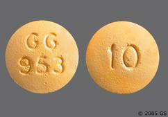 Yellow Round Gg 953 And 10 - Prochlorperazine Maleate 10mg Tablet