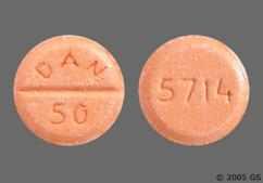 Orange Round Tablet Dan 50 And 5714 - Amoxapine 50mg Tablet