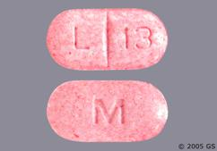 Pink Oblong Tablet L 13 And M - Levothyroxine Sodium 200mcg Tablet