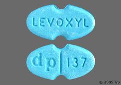 Blue Oval Tablet Levoxyl And Dp 137 - Levoxyl 137mcg Tablet