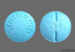 Blue Round Tablet 137 And Synthroid - Synthroid 137mcg Tablet