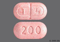 Pink Oblong Tablet 200 And T 4 - Levothroid 200mcg Tablet