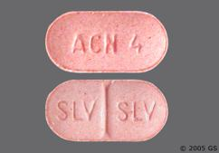 Pink Oblong Tablet Acn 4 - Aceon 4mg Tablet