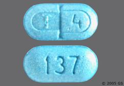 Blue Oblong Tablet T 4 And 137 - Levothroid 137mcg Tablet