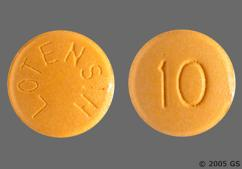 Yellow Round Tablet 10 And Lotensin - Lotensin 10mg Tablet